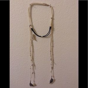 New with tags leather adjustable feats tassel